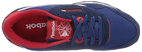 Reebok Classic Nylon, Sneakers Basses Homme Bleu (faux Indigo/batik Blue/red Rush/white/black)