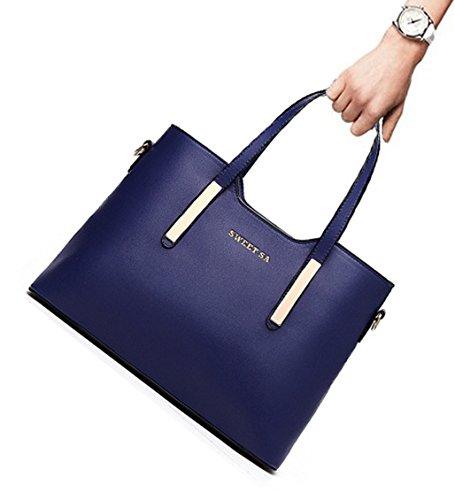 Tibes Luxus PU Leder Handtasche Mode Umhängetasche Tasche Grün