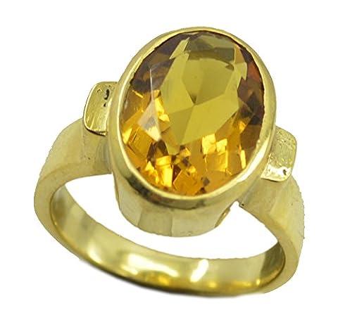 elegant citrine cz gold plated yellow ring supply