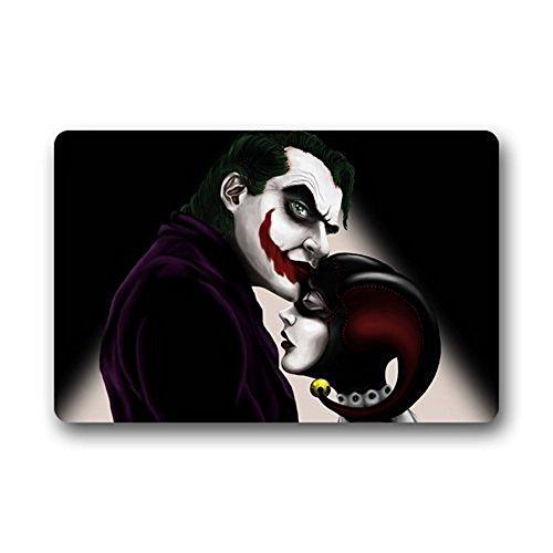 Custom Joker Harley Quinn Zerbino in un panno tessuto con fondo in gomma antiscivolo zerbino 59,9x 39,9cm
