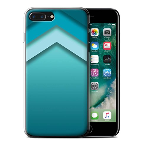 Stuff4 Gel TPU Hülle / Case für Apple iPhone 5/5S / Martini-Glas/Alkohol Muster / Teal Mode Kollektion Zickzack Kunst