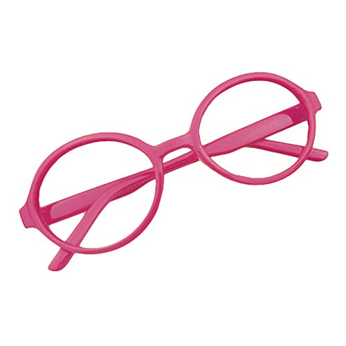 Rund Gläser für Kinder - Jungen und Mädchen Keine Objektive Gläser Kunststoff Brillenfassung Klassisches Brille mit Auto Form Brillenetui