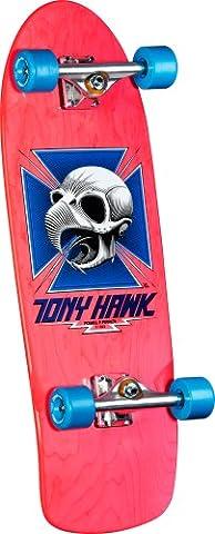 powell-peralta Bones Brigade Tony Hawk Skull Montage Skateboard, Pink