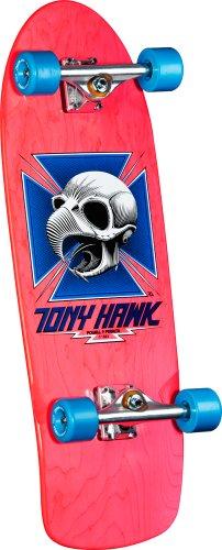 Powell Peralta Bones Brigade Tony Hawk Skull Montage Skateboard, Pink