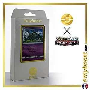 Malamandre (Salazzle) 47/111 Holo - #myboost X Soleil & Lune 4 Invasion Carmin - Box de 10 Cartas Pokémon Francés