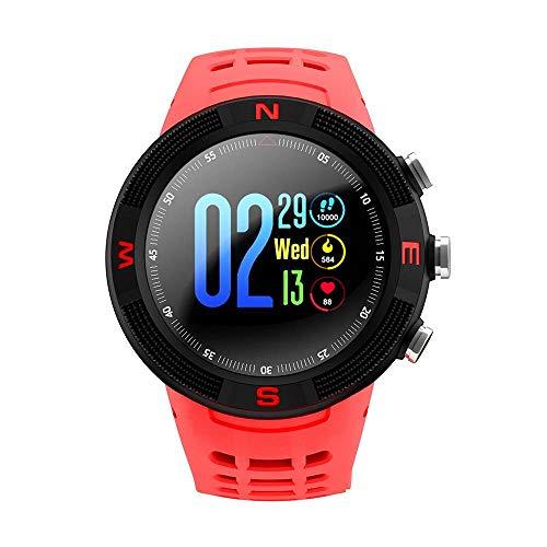 OOFAYWFD GPS Sport Smartwatch Bluetooth 4.2 IP68 Wasserdicht Touchscreen Schrittzähler Schlafüberwachung Für Android Ios,Red