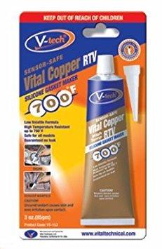 Preisvergleich Produktbild V-Tech Copper RTV Silikondichtungsmasse mit Sofortdichtung bis 370 Grad