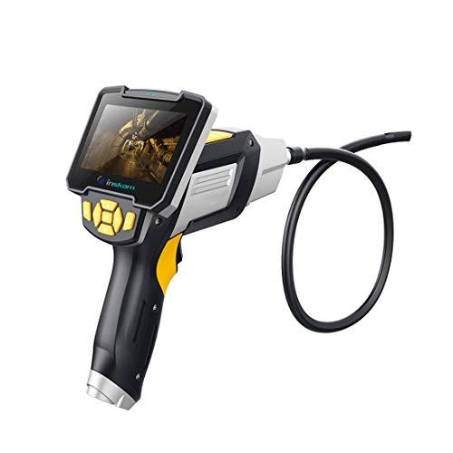 4.3 Zoll Farb LCD Monitor Industrie Endoskop Inspektionskamera, 1080P HD XP67 Wasserdichte 6 LED Leuchten 8 mm Sonde Video Endoskop Boreskop Geeignet für verschiedene Branchen,10M -