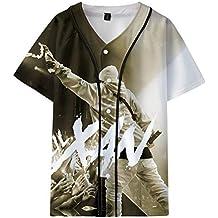 CTOOO Lil Xan Xanarchy Impresión Digital 3D Sección Delgada Uniforme De Béisbol De Manga Corta para