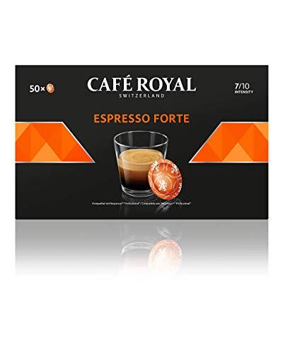 Café Royal Espresso Forte 50 Nespresso Pro kompatible Kapseln (Intensität 7/10) 1er Pack (1 x 50 Pads)