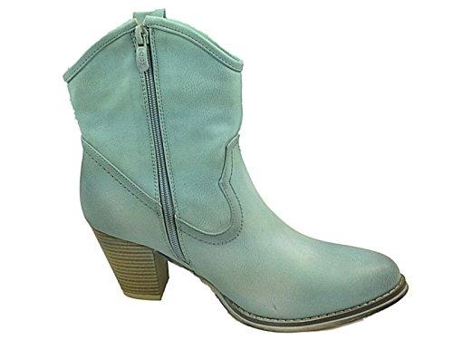Foster Footwear , Santiags fille femme bleu clair