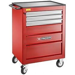 Facom ROLL6XLPB_33919 - Carro de herramientas (6 cajones), color rojo