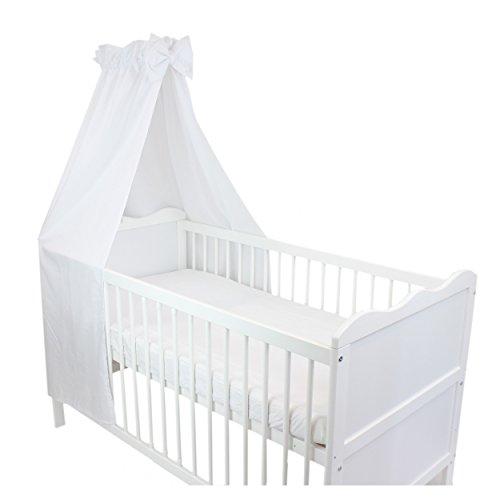 TupTam Babybett Himmel mit Schleife Baumwolle, Farbe: Weiß, Größe: ca. 160x240 cm