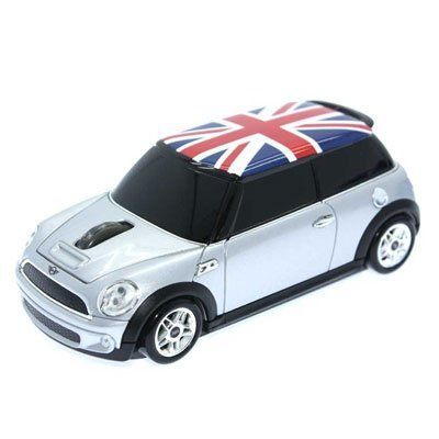 Mini Cooper (Union Flag) British Flag Wireless Car Mouse 2.4Ghz Mini-Cops Jp F/S