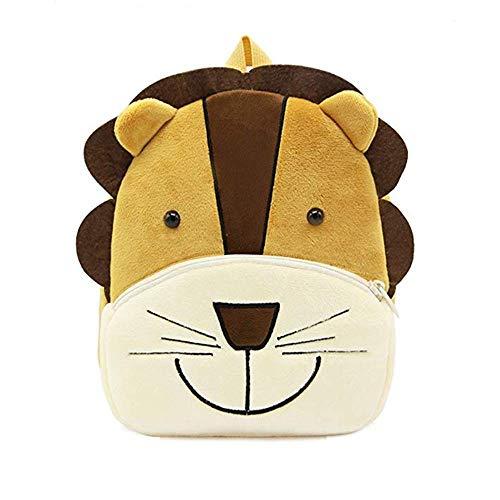 Sacchetto di scuola zaino simpatico cartone animato animale, per bambini bambino Ragazzi ragazze, 2-5 anni, regalo perfetto per bambini, bambini, unisex (Leone) ...