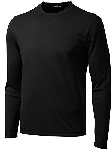 DRI-Equip Sport-Shirt, langärmelig, feuchtigkeitsableitend - Schwarz - Medium Regulär (Tee Dri-fit-sleeveless)