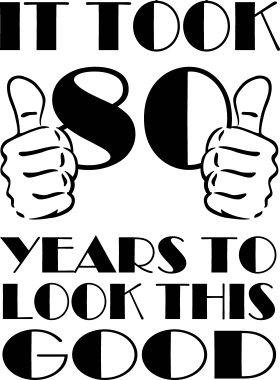 Signore Merchandise Tasche Ci Sono Voluti 80 Anni Per Guardare Questo Buon Stofftasche, Farbe: Schwarz Schwarz