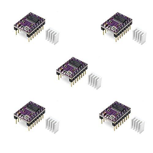 DRV8825 Treiber für Schrittmotor mit Kühlkörper[5 Stück],GeekerChip 4-Layer Treiber-Modul für 3D-Drucker