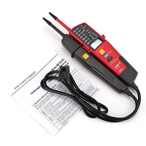 Comomingo Uni-T UT18C Spannungskontinuität Elektrische LCD-LED-Tester mit Zwei Polen (Grau & Rot) - 120v 60hz Single