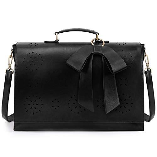 f1c4be96d2bba ECOSUSI Vintage Damen Schultasche Arbeitstasche Aktentasche Laptoptasche  15