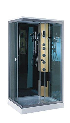 Box doccia idromassaggio modello taormina 100 x 70 cm doccia cabin full optional radio apertura a sinistra