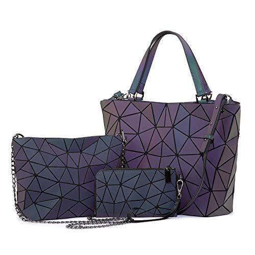 Handbag Luminous Geometric Bag P...
