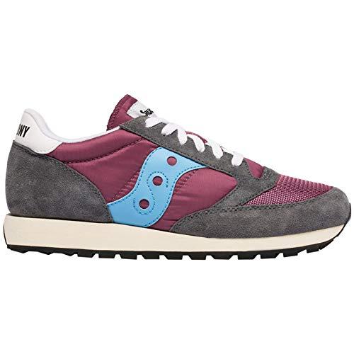 Saucony Herren Jazz Original Vintage Sneakers, Violett (Purple/Grey/Blue 52), 45 EU - Purple Multi Schuhe