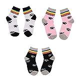 OOFAYHD Ski-Socken, warme Lange Bestände Regenbogen-Streifen-Cartoon-Socken Mischgewebe Outdoor-Winter für Teenager- und Studentensocken 3 Paar