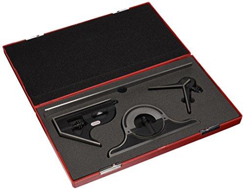 Starrett 9–12–4R 12Zoll Schnell zu lesen Kombinationswinkel Set mit Gusseisen Kopf (Gusseisen-werkzeug-set)