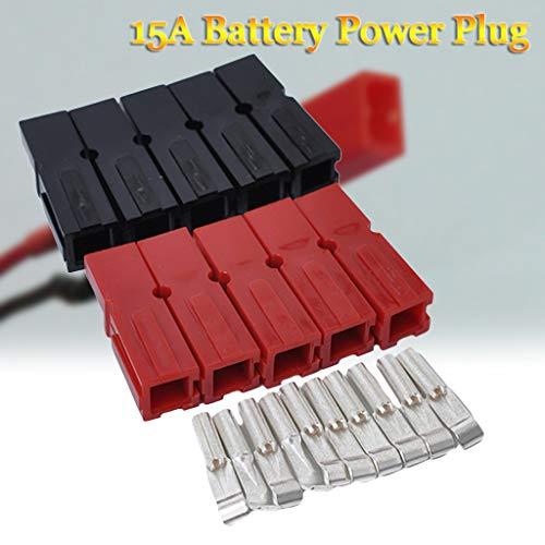 20x Autobatterieanschluss 15 Amp Strom Elektrischer Anschluss Stecker Golf Trolley -