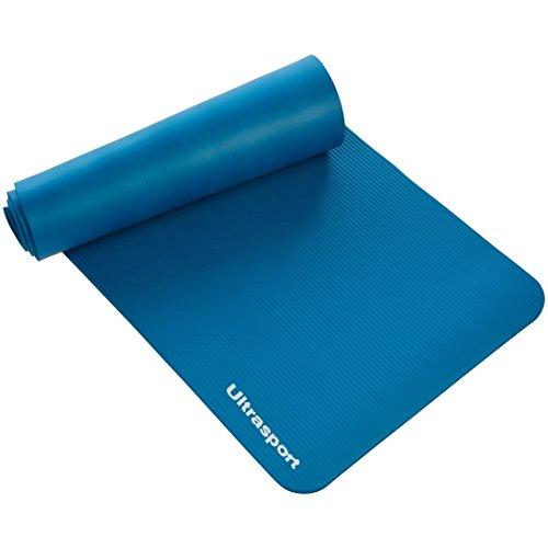 Ultrasport Esterilla de gimnasia, esterilla para deporte, esterilla de fitness para el entrenamiento, pilates, yoga, aerobic o masajes, 190 x 60 x 1,5 cm, Azul