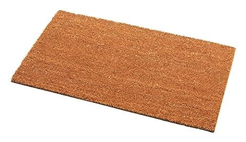 Addis Helmsley Fußmatte sehr saugfähig 100% KOKOSFASER mit PVC-Rückseite–70x 40cm–natur, natürliche Kokosfaser