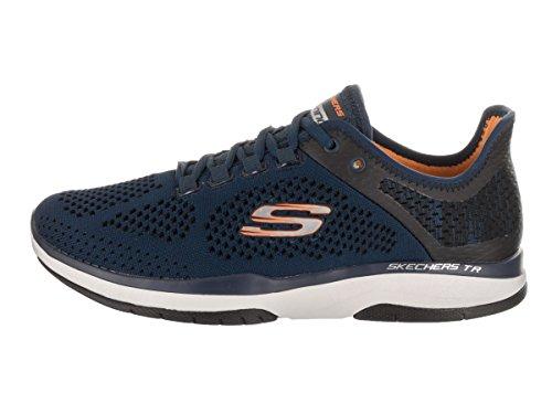 Basket, couleur Blue , marque SKECHERS, modèle Basket SKECHERS BURST TR FLINCHTON Blue Navy- Orange