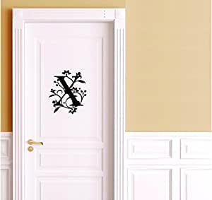 Buy Cvanu X Name Latter Decorative Door Sticker Matriyl Vinyl Decal Black Online At Low Prices In India Amazon In