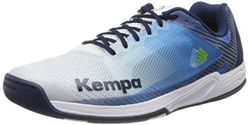 Kempa WING 2.0, Unisex-Erwachsene Handballschuhe, Mehrfarbig (White/Navy 01), 43 EU