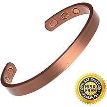 Ajustable Elegante–terapia magnética pulsera de cobre puro artritis alivio del dolor para hombres y mujeres