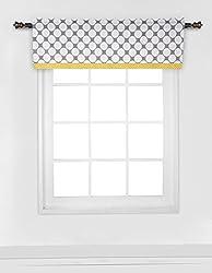 Bacati Dots/Pin Stripes Grey/Yellow Window Valance