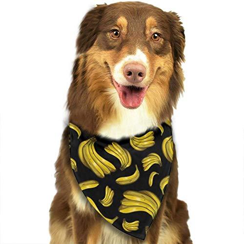 Sdltkhy Banana Pet Dog Cat Bandanas Triangle Bibs Pet Scarf Dog Neckerchief Headkerchief Pet Accessories