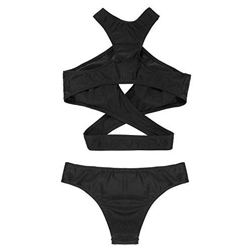 Minetom Donne Sexy Estate Bikini Costumi Da Bagno Bandeau Bikini Nero