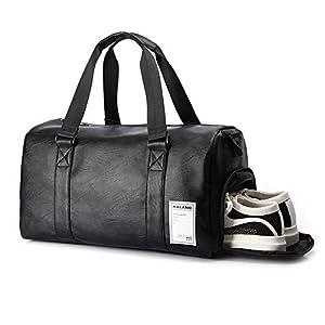4129NUjX1JL. SS300  - UBaymax 32L Bolsas de Deporte con Compartimento de Zapatos,Bolsas de Gimnasia Impermeable,Bolso de Viaje Fin de Semana,Travel Duffle Bag para Hombre/Mujer,Bolso Bandolera para Natación/Surf/Viajar