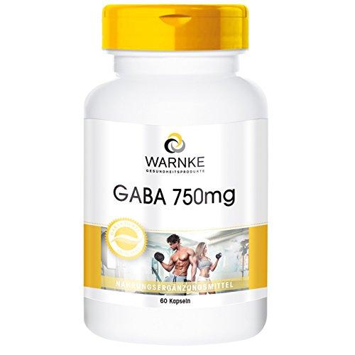 GABA 750mg de productos para la salud Warnke – ácido gamma amino butírico – 60 comprimidos