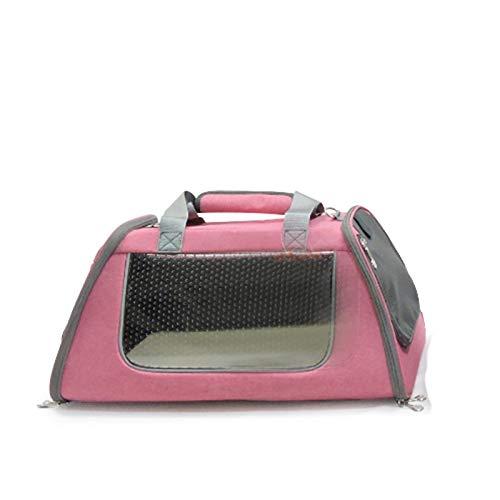 Airline Approved Soft Sided Pet Carrier, TSA-Transporttasche Für Katzen, Welpen Und Kleintiere, Zusammenklappbare Hundehütte, Flugzeug-, Auto- Und Bahnreisen (Color : Pink, Size : S)