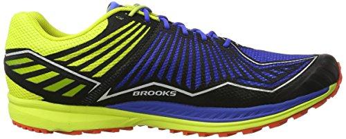 Brooks mazama, Scarpe da Corsa Uomo Multicolore (Electric Blue/LimePunch/C)