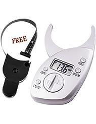 Adipómetro digital con pinza para piel + cinta métrica