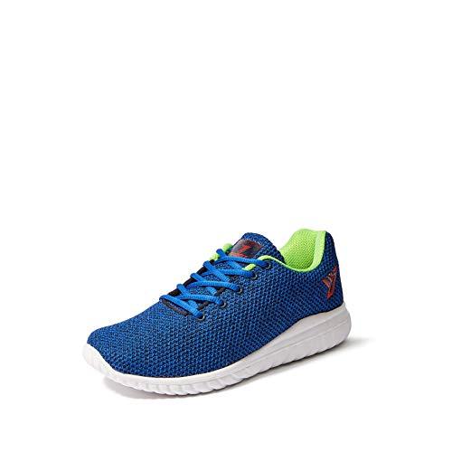 Fusefit Men's Duke R Blue/Lime Green Running Shoes-10 UK/India (44 EU)(FFR-128)