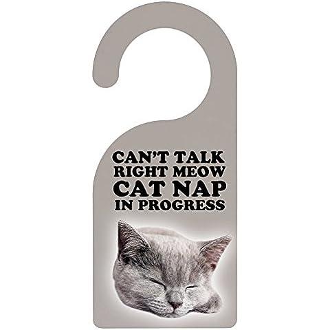 Non disturbare prendendo un gatto Nap Door Hanger - Non Disturbare Cat