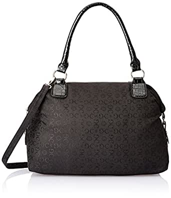 Gussaci Italy Women's Handbag (Black) (GC015)