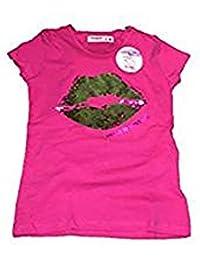 46ae34c56 Desigual TS Halifax - Camiseta Manga Corta Lentejuelas Niña Mochila