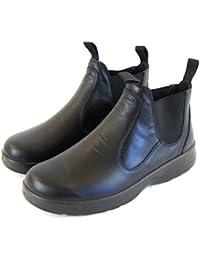 Naot Damen Schuhe Chelsea Boots Iguana Echt-Leder schwarz Wechselfußbett 16008