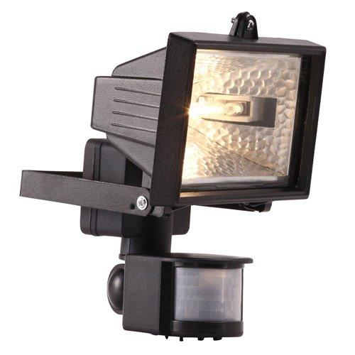Clair Électrique 120W PIR Projecteur Lampe Sécurité PIR Capteur Mouvement Mouvement Détecteur - Noir